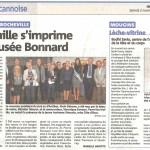 Article sur Valérie Cerdan paru dans le journal Nice Matin le samedi 2 novembre 2013